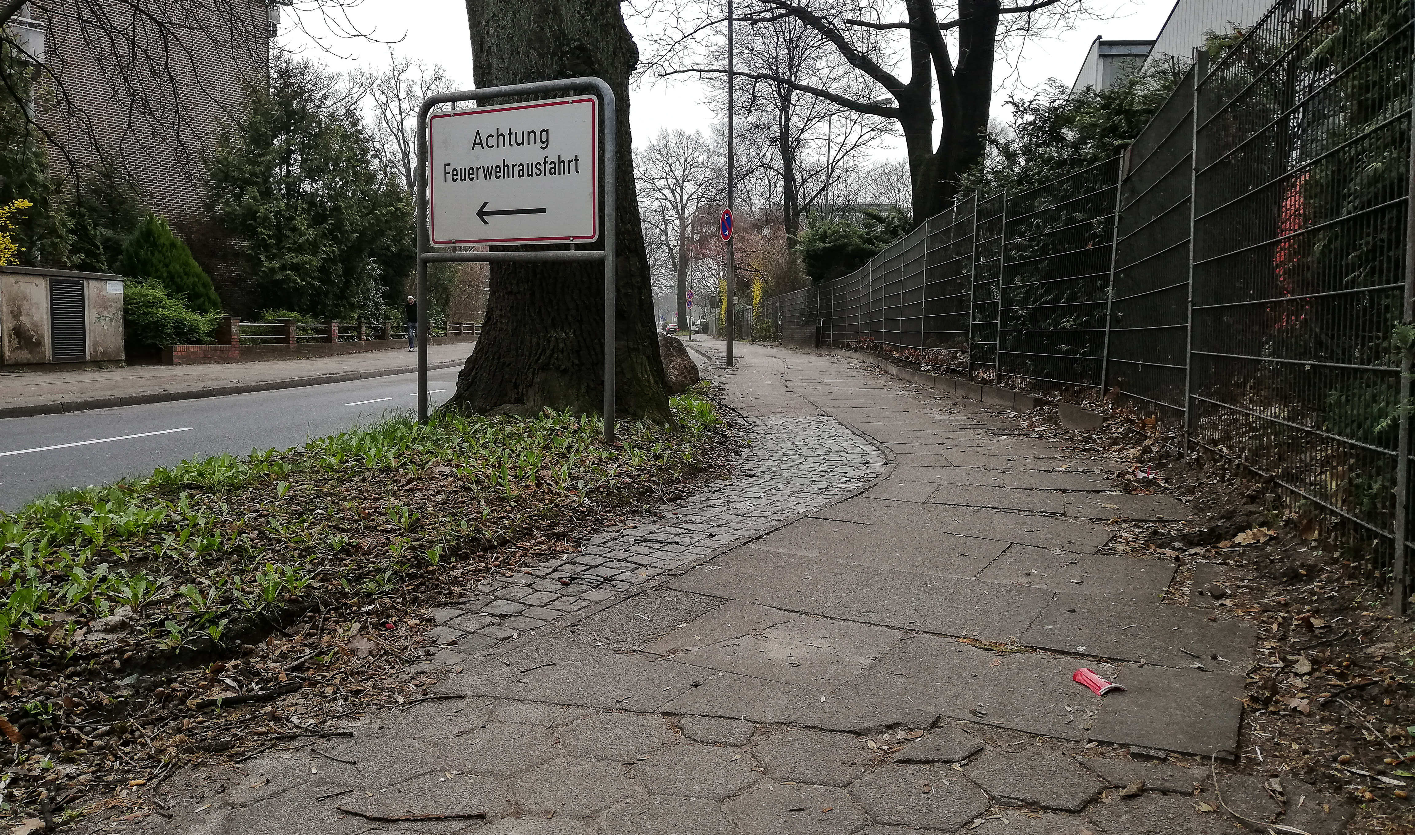 ca. 25 cm breiter Radweg im Kiebitzweg