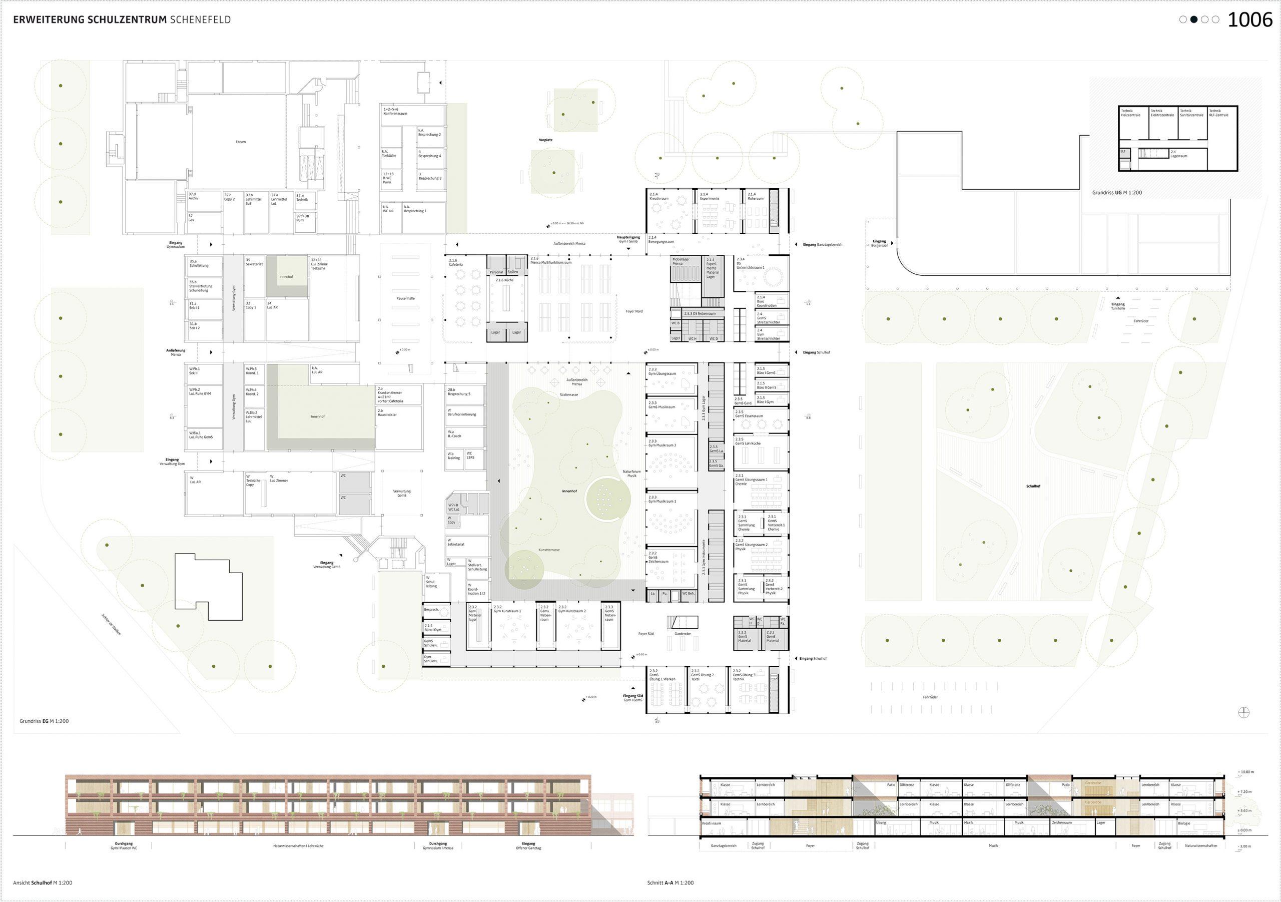 Erdgeschoss Neubau Schulzentrum Schenefeld